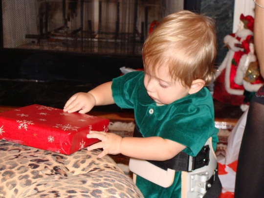I learned how to open presents really fast!