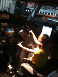 Sitting in the co-pilot's seat on the BIG Airplane!!