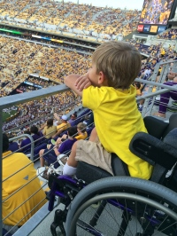 WATCHING MY TIGERS PLAY… FIRST LSU GAME OF THE SEASON